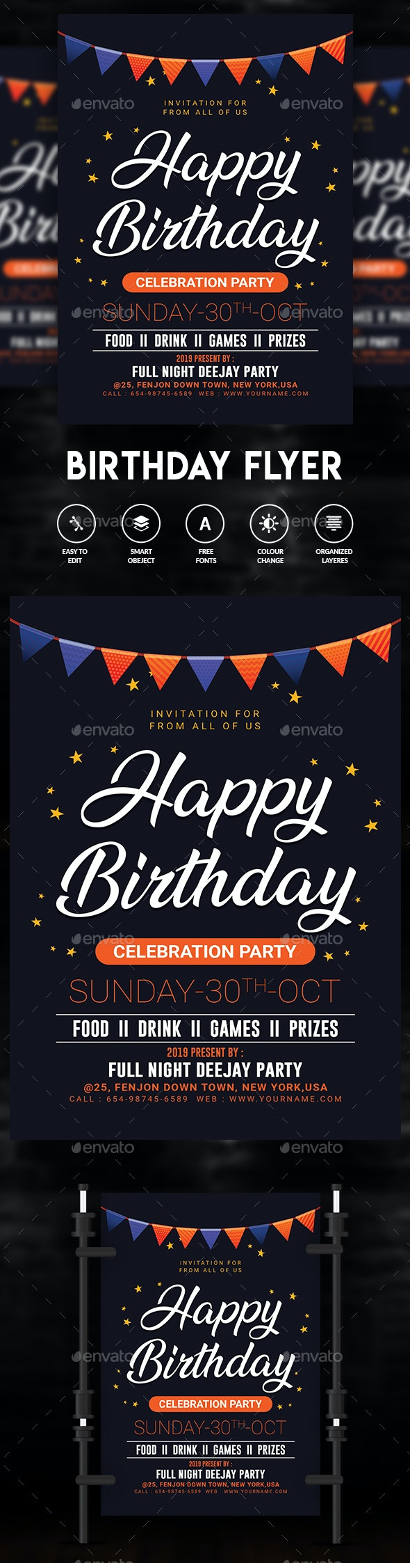 Birthday - Events Flyers