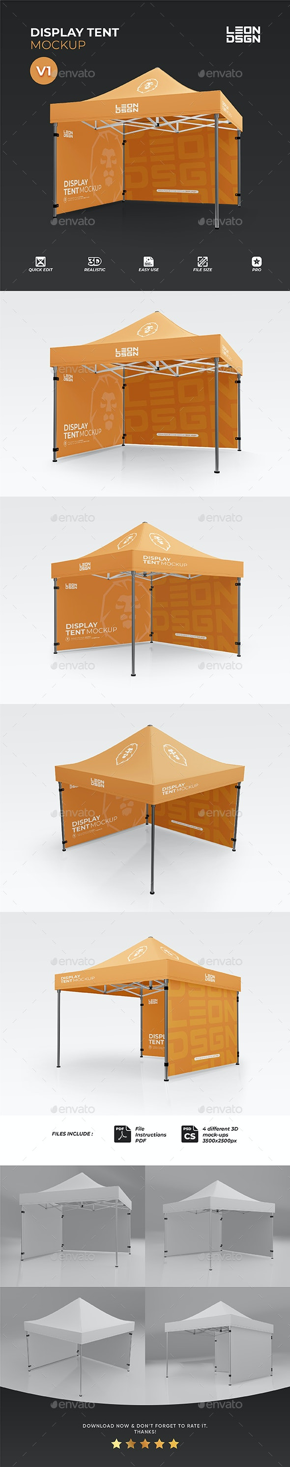 Display Tent Mockup - Miscellaneous Print