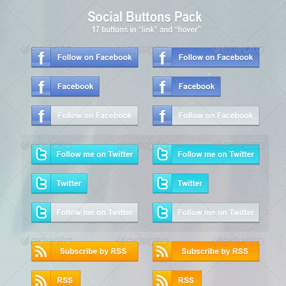 Social Buttons Pack