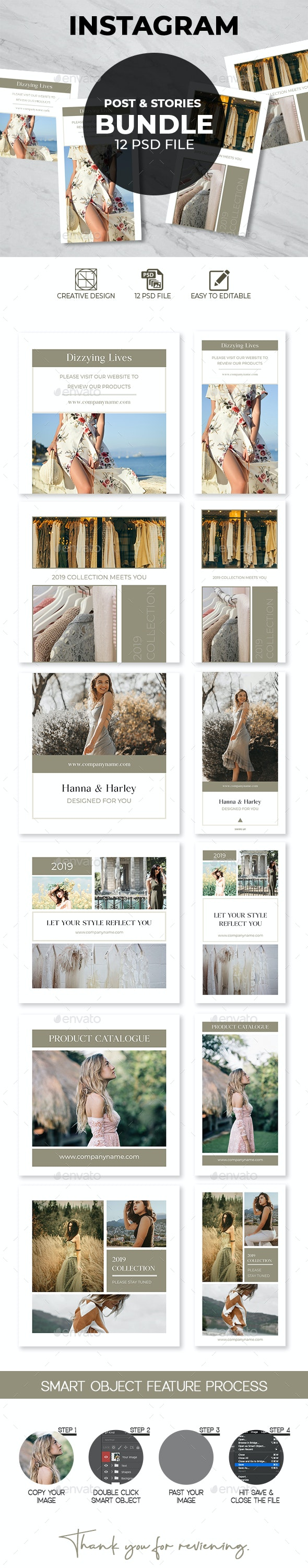 Fashion Instagram Posts & Stories - Social Media Web Elements