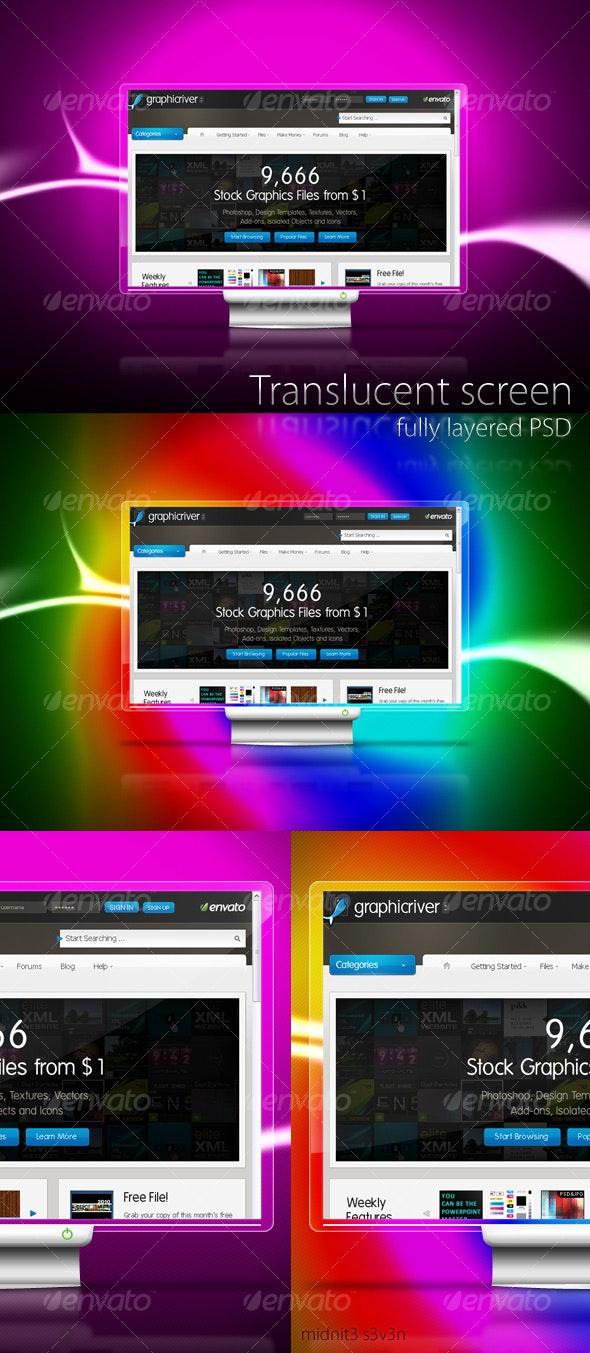 Translucent Screen - Objects Illustrations