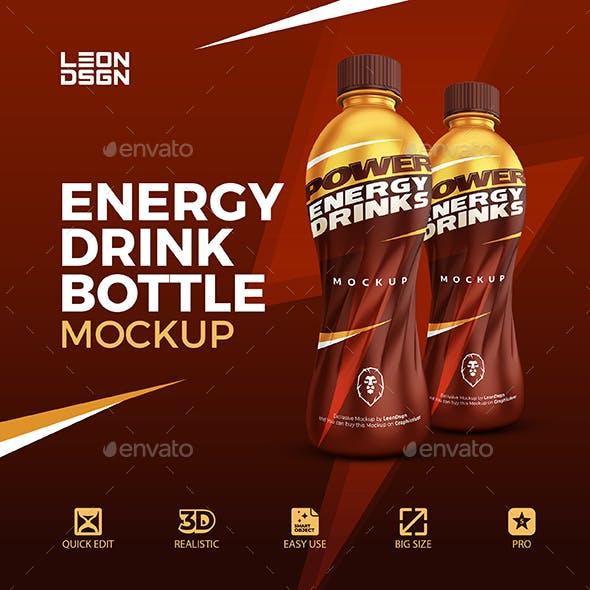 Sport Bottle - Energy Drink Mockup