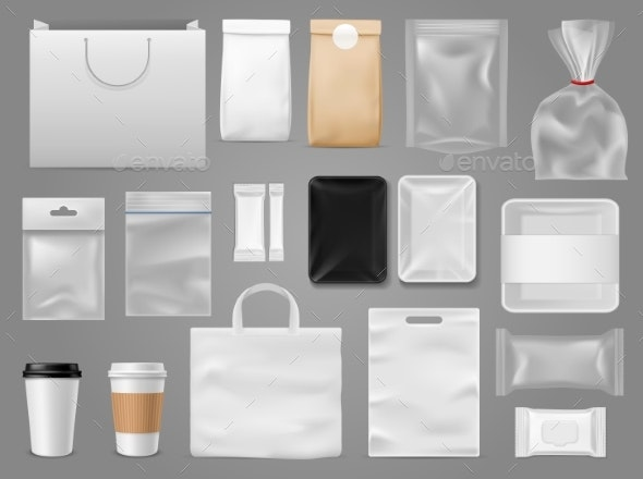 Mock Up for Take Away Packaging - Food Objects