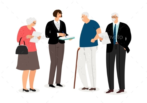 Social Work Concept - People Characters