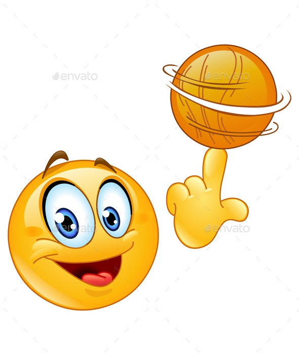 Spinning Ball Emoticon - Sports/Activity Conceptual