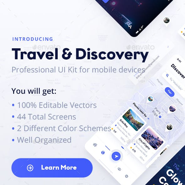 Travel & Discovery Mobile UI Kit