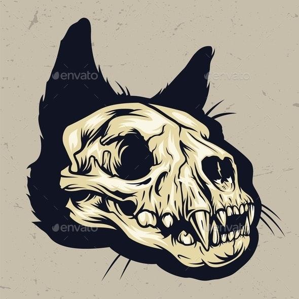 Cat Skull - Animals Characters