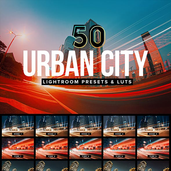 50 Urban City Lightroom Presets and LUTs