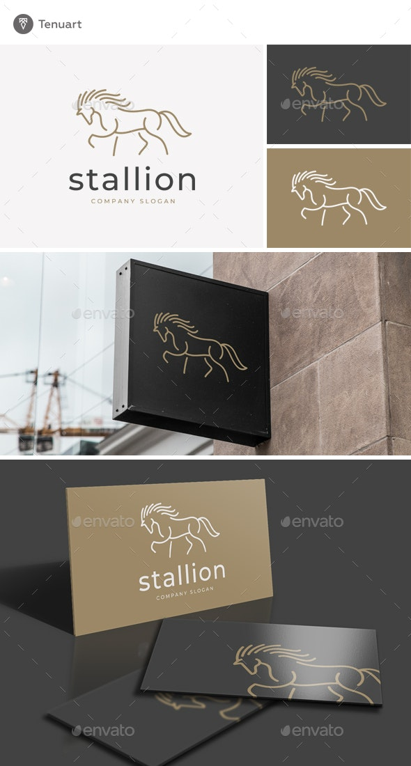 Stallion Logo - Animals Logo Templates