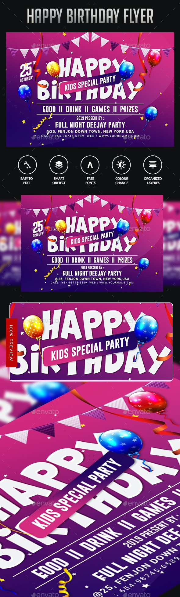 Birthday Party - Events Flyers