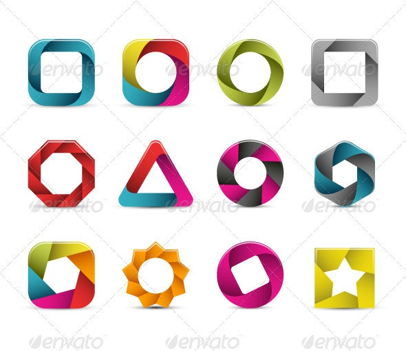 Abstract Icons Set - Decorative Vectors