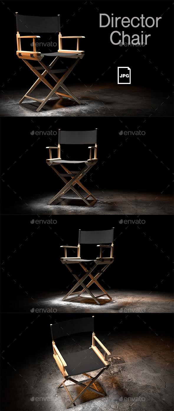 Director Chair - 3D Renders Graphics