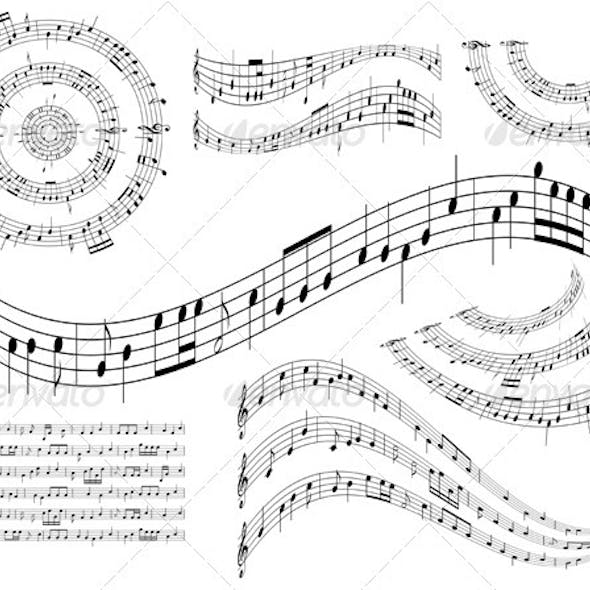 Musical Abstract Design Elements