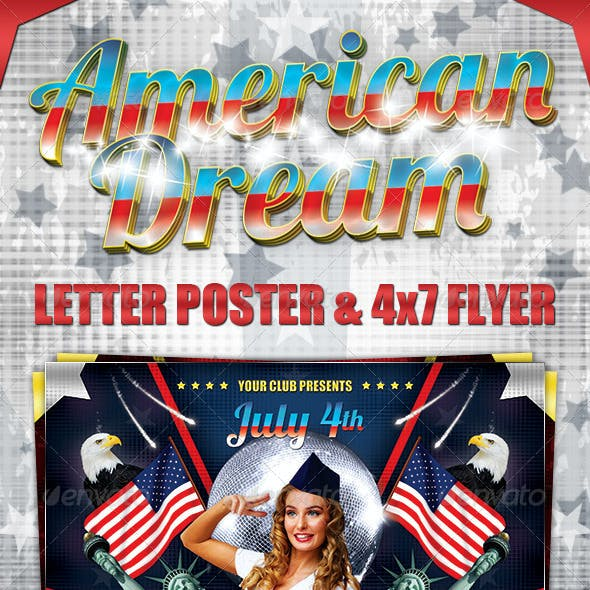 American Dream Party Poster and Flyer