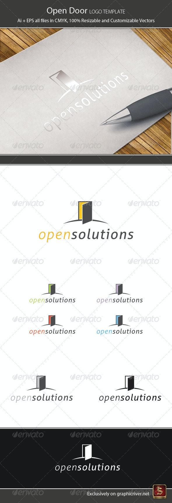 Open Door Logo Template - Vector Abstract