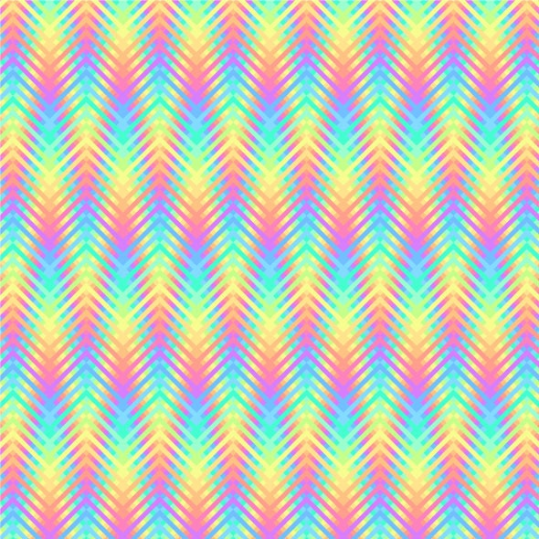Psychedelic Wavy Stripes Pixel Art Pattern - Textures / Fills / Patterns Illustrator