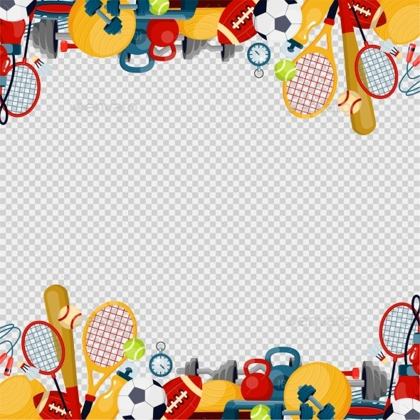Sports Equipment Flat Vector Illustration Fitness - Man-made Objects Objects