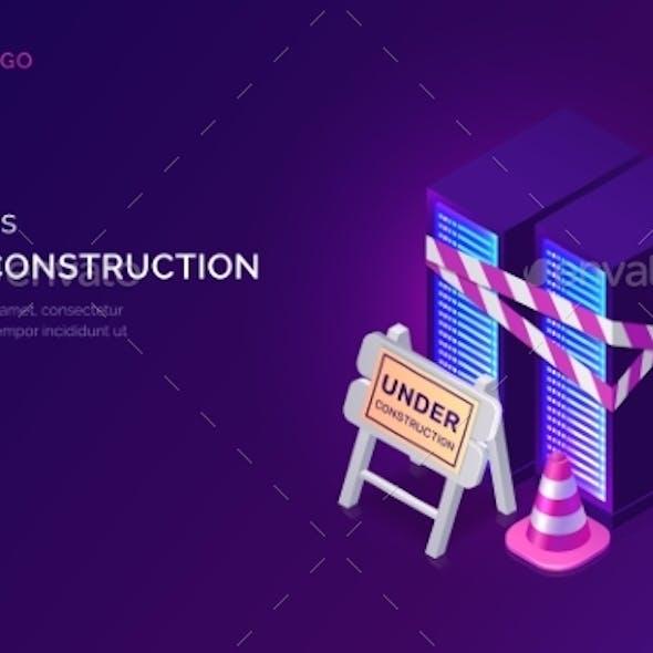 Website Under Construction, Maintenance Work Error