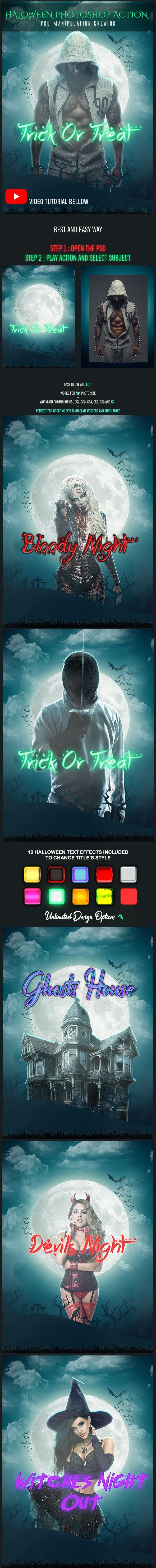 Halloween Photoshop Action - Actions Photoshop