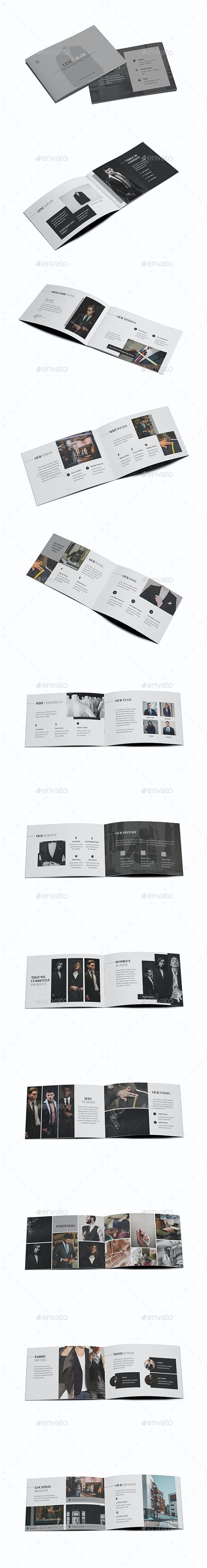 Custom Fashion Tailor A5 Brochure Template - Brochures Print Templates