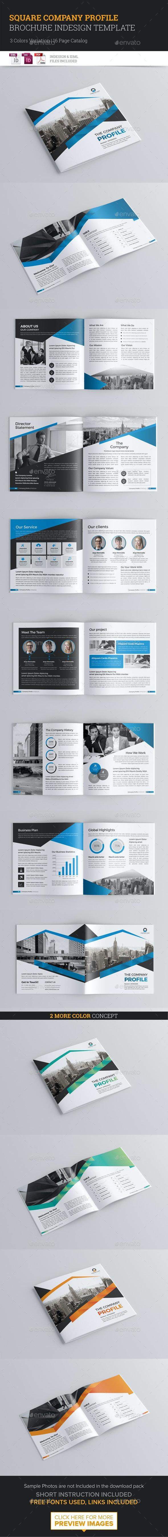Square Brochure Template - Corporate Brochures