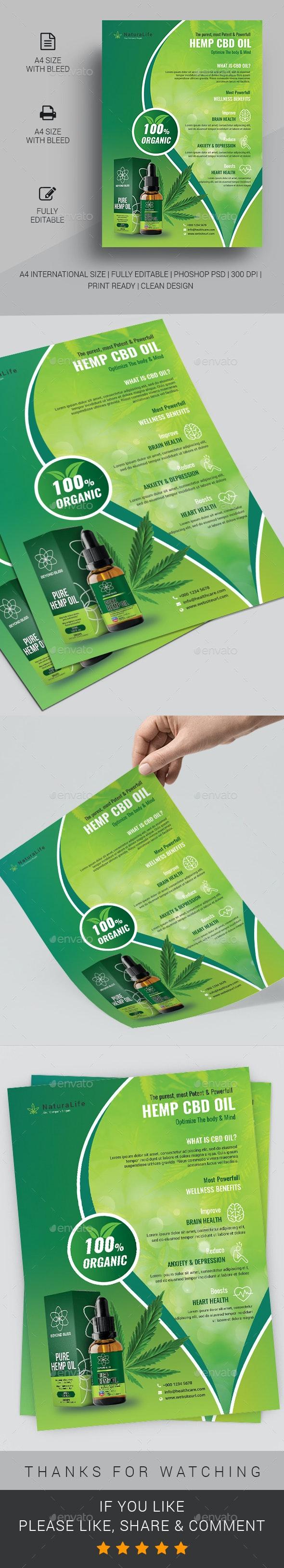 Hemp Product Flyer - Commerce Flyers