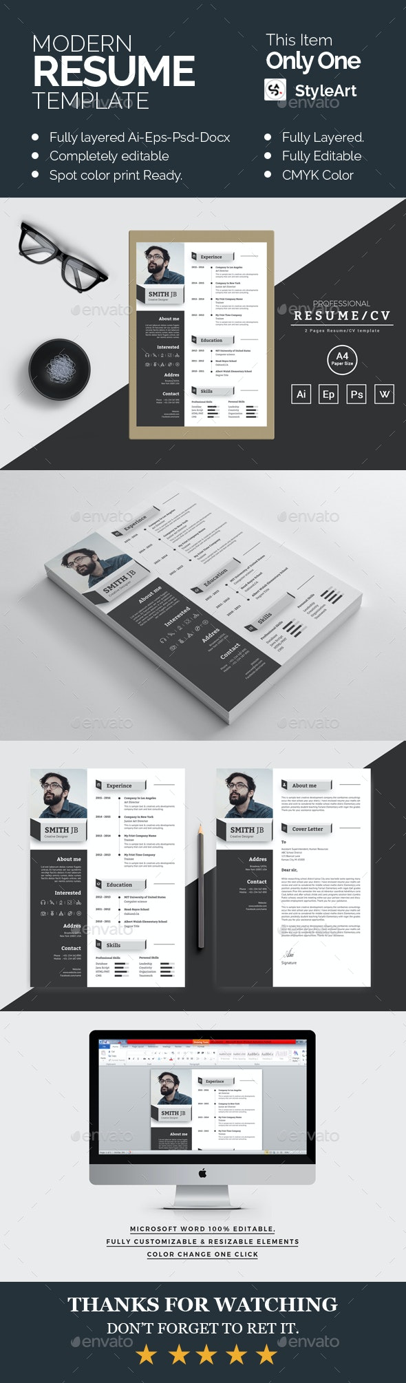 Modern Rseume - Resumes Stationery
