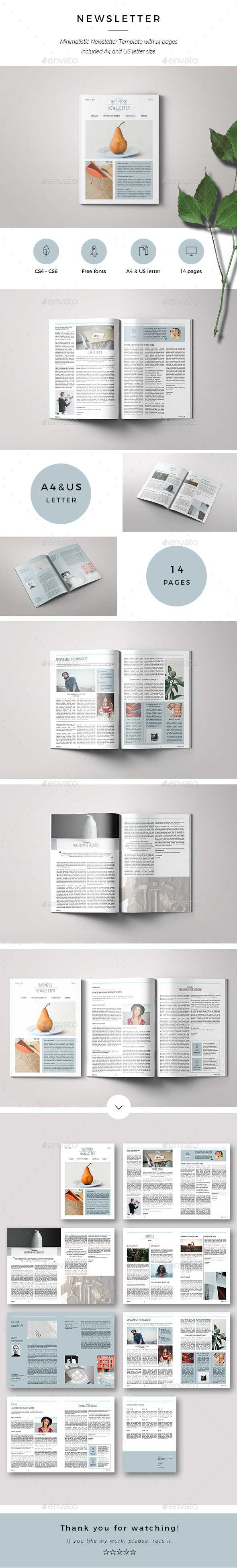 Newsletter Business - Newsletters Print Templates