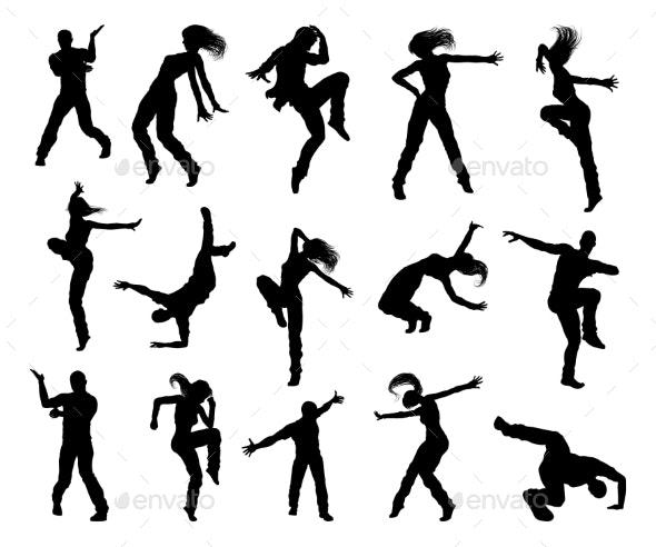 Street Dance Dancer Silhouettes By Krisdog Graphicriver