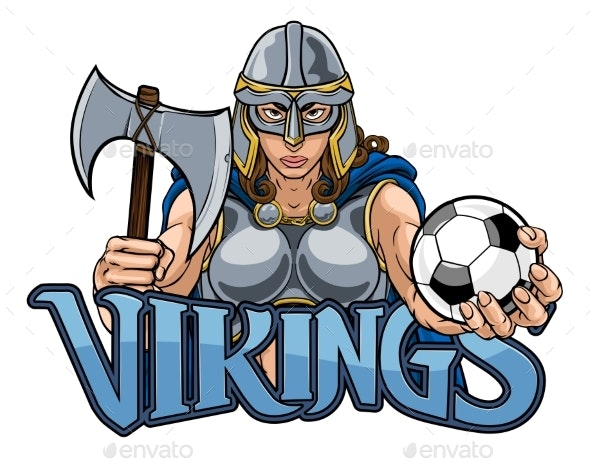 Viking Trojan Celtic Knight Soccer Warrior Woman - People Characters