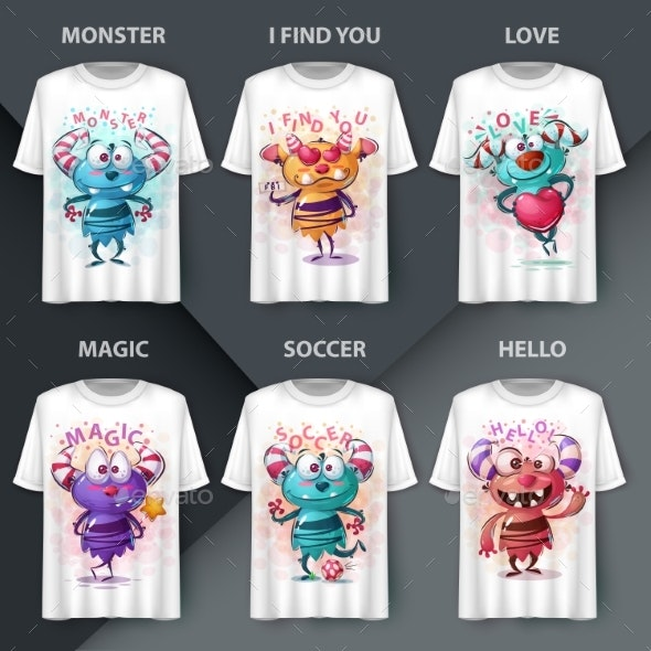 Cartoon Monsters - Animals Characters
