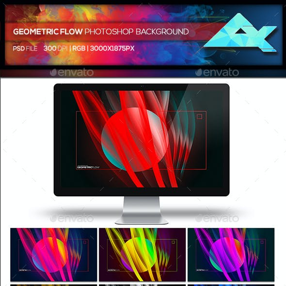 Geometric Flow Abstract Photoshop Template