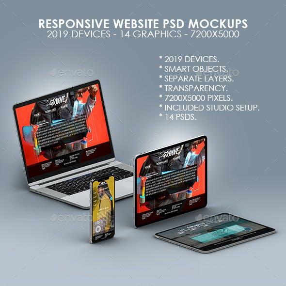 Responsive Website PSD Mock-ups