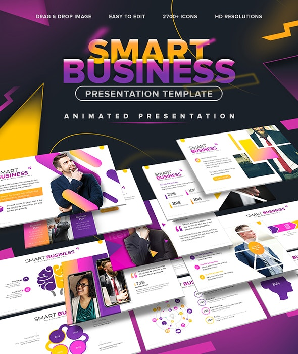Smart Business - Animated Presentation Template - Business PowerPoint Templates