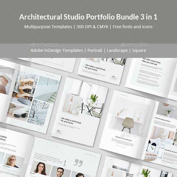 Architectural Studio Portfolio Bundle 3 in 1