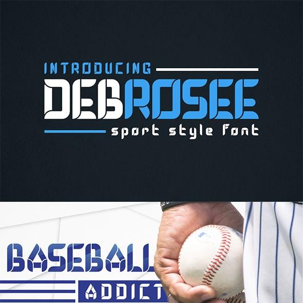 Debrosee - Sporty Display Font