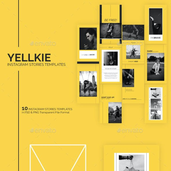 Yellkie Instagram Stories Templates