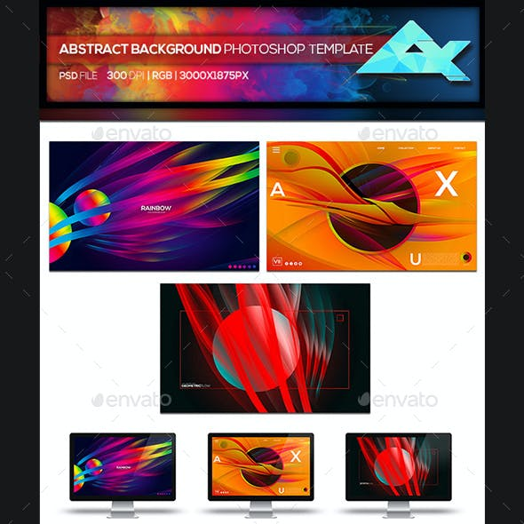 Colorful Abstract Photoshop Background Template Bundle 1
