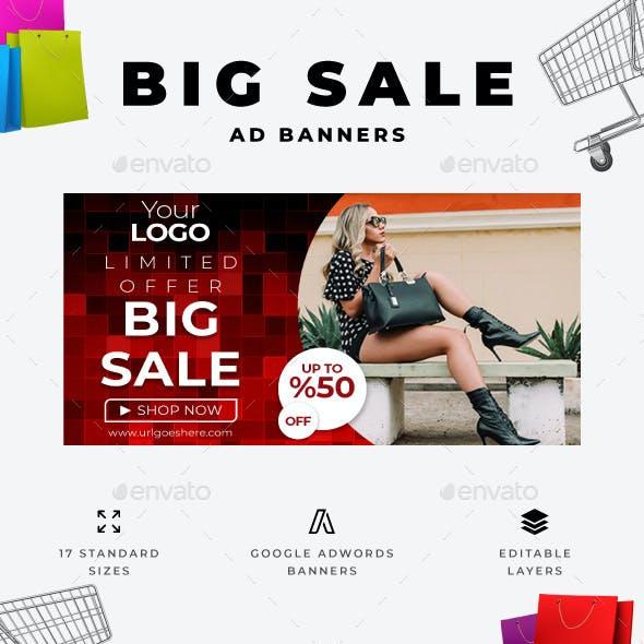 Big Sale Web Ad Banners