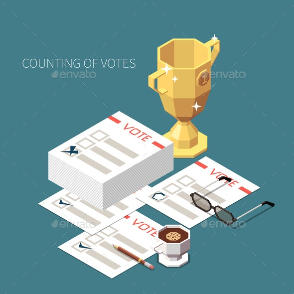 Counting of Votes Isometric Background - Miscellaneous Vectors