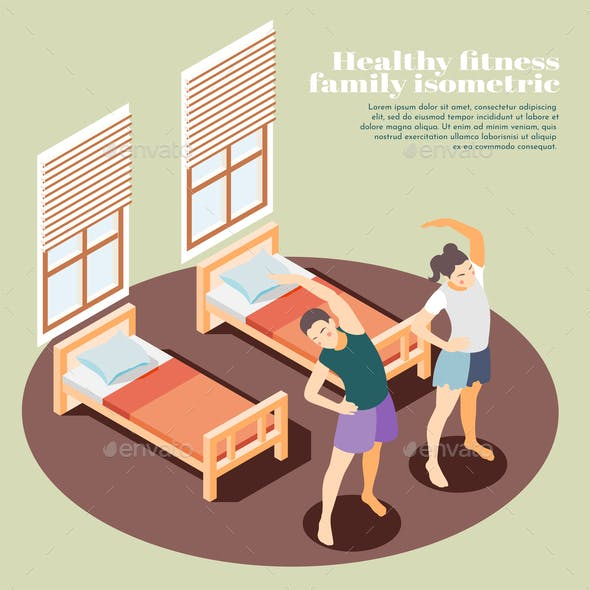 Healthy Fitness Isometric Background