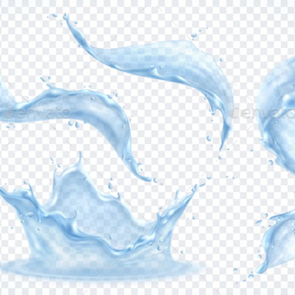 Water Splash Transparent Set