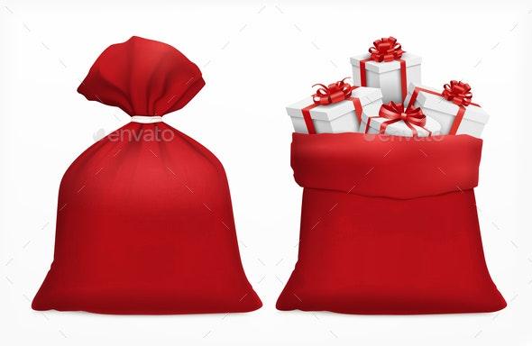 Christmas Gifts Sack Composition - Christmas Seasons/Holidays