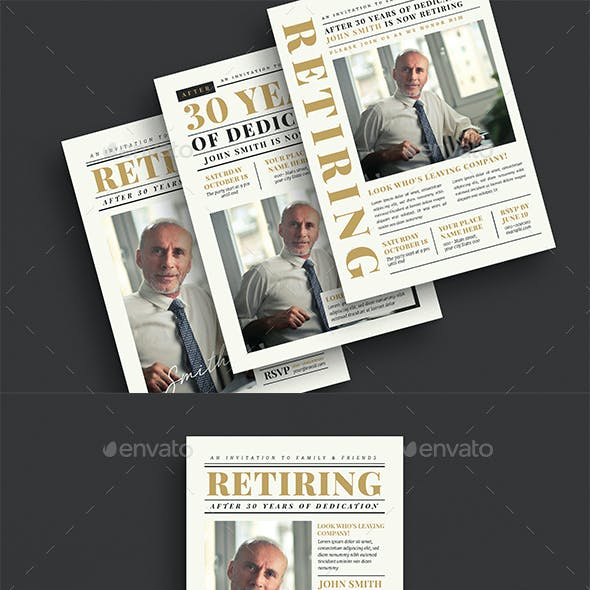 Newspaper Retirement Invitation