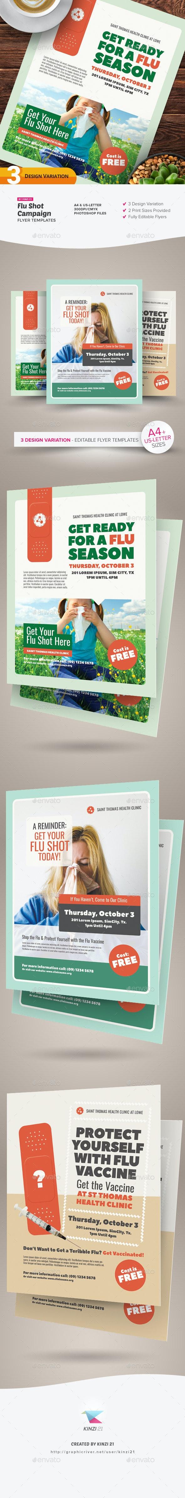Flu Shot Campaign Flyer Templates - Miscellaneous Events