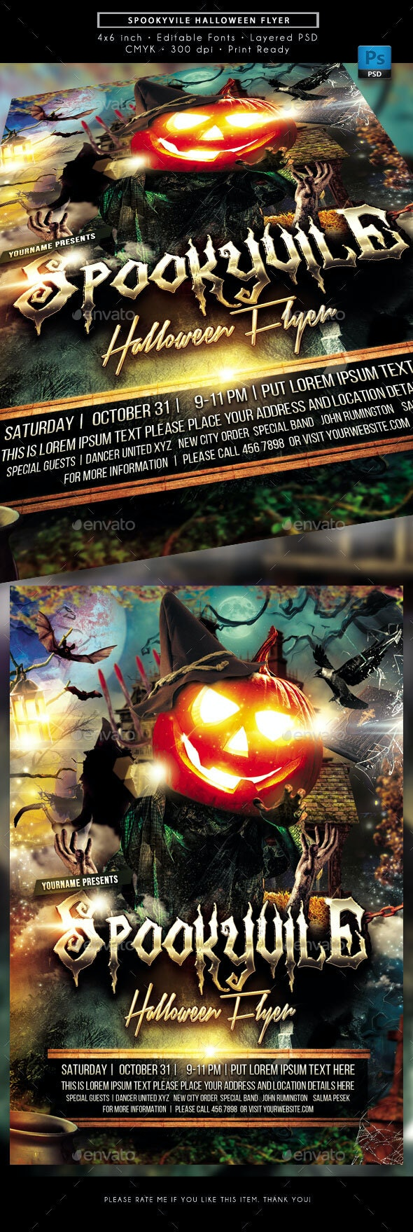 Spookyvile Halloween Party Event Flyer - Holidays Events