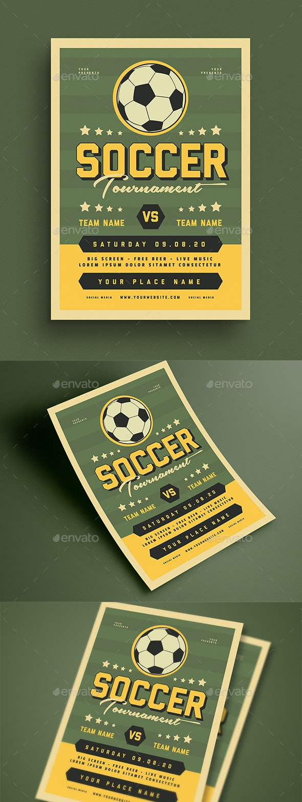 Soccer Tournament Event Flyer - Sports Events