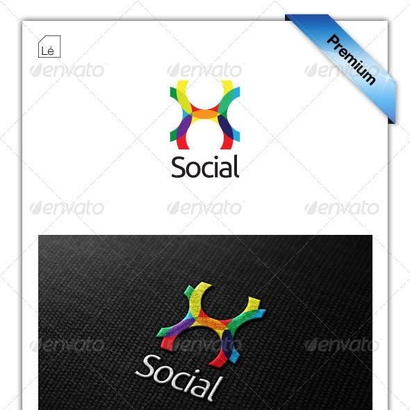 Social Connect Colors Logo