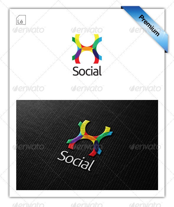 Social Connect Colors Logo - Abstract Logo Templates