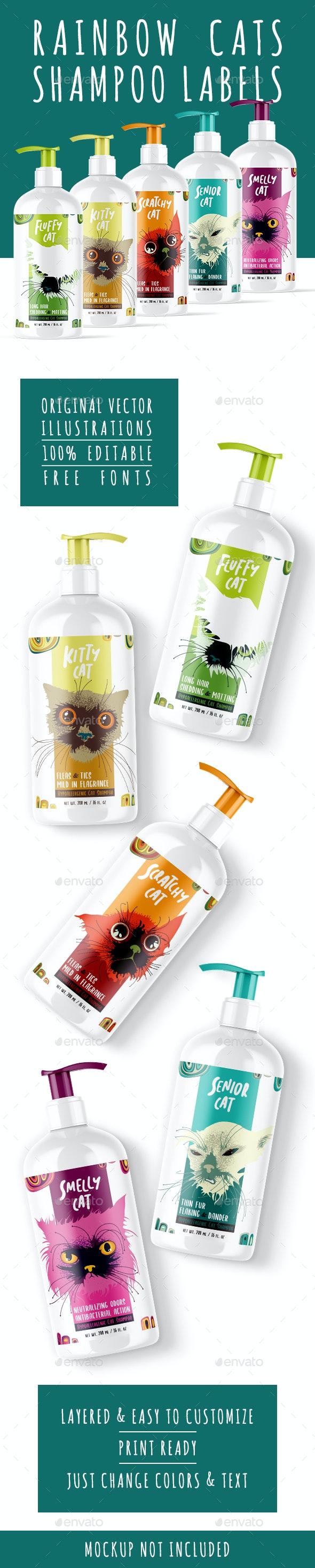 Cat Shampoo Labels